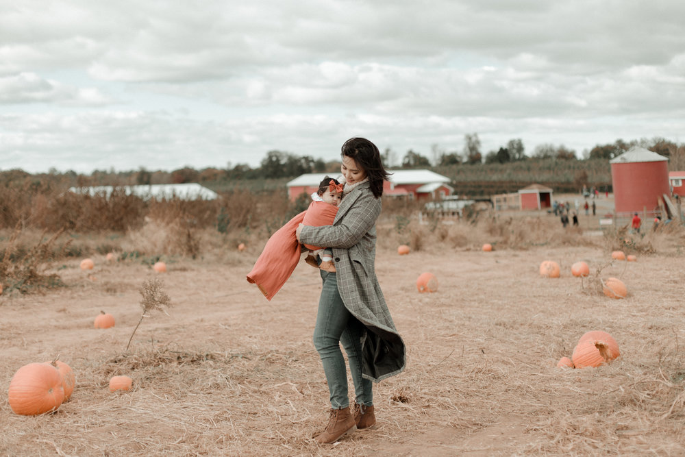 AT THE PUMPKIN PATCH -