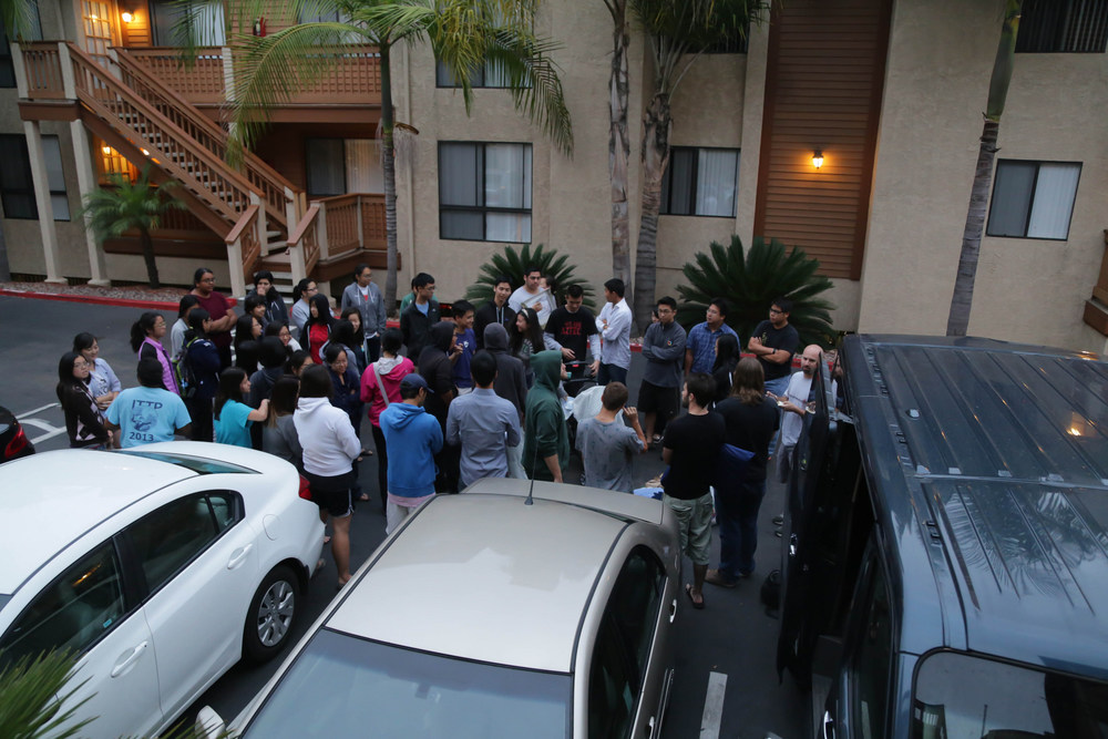 Send off from the IG apartments.