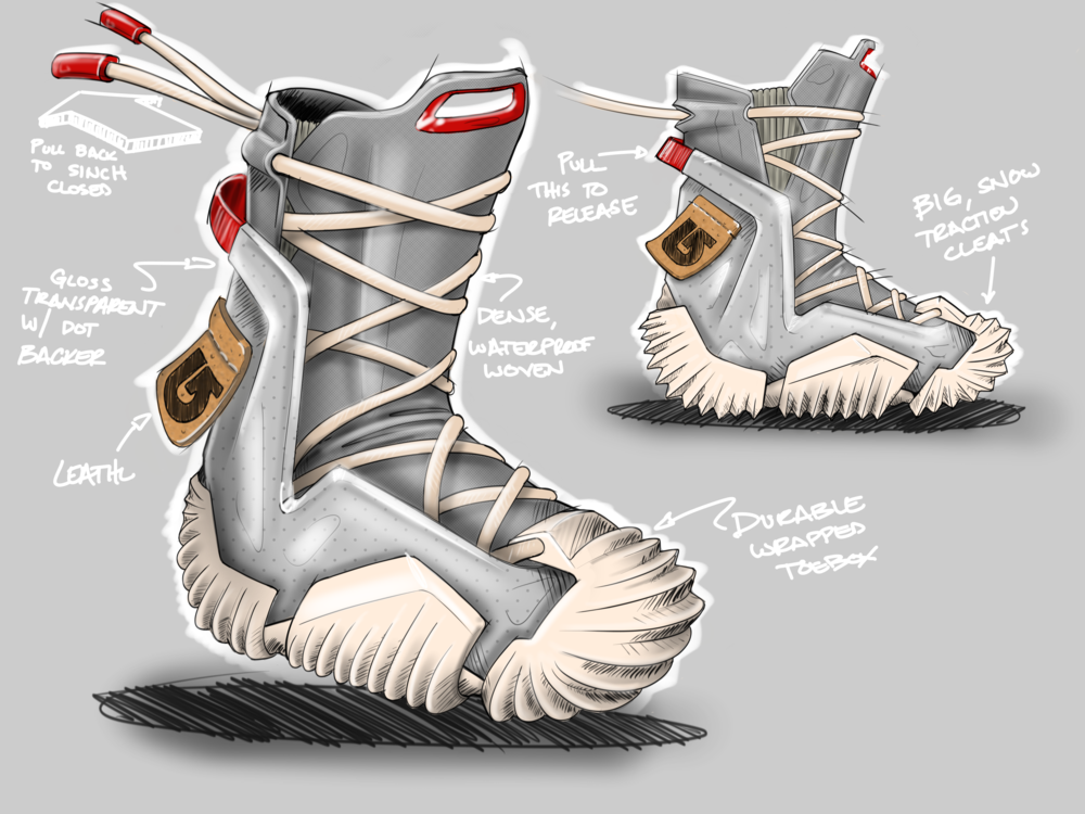 Burton Snowboard Boot concept