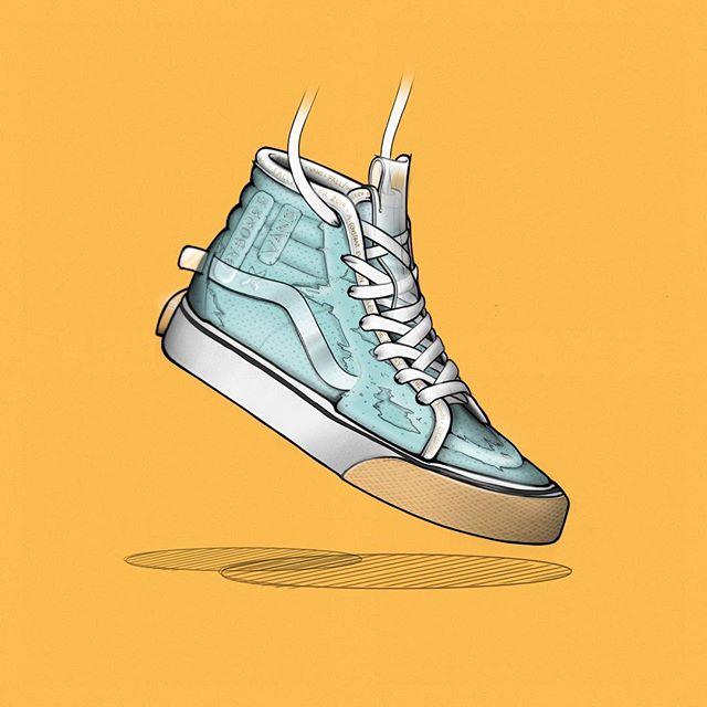 #whatif @byborre x @vans ©️©️ . . . . #footwear #textiles #byborre #design #industrialdesign #vans #sk8hi #skate #skateboarding #knit #footweardesign #lacelessdesign