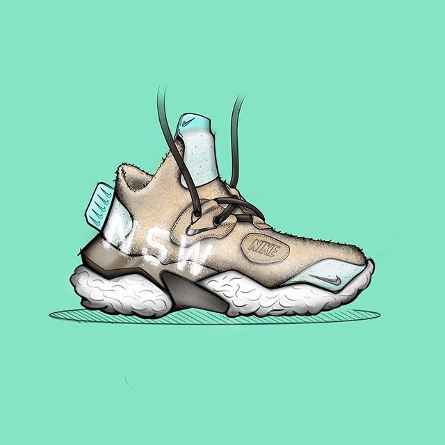 NSW Winter Enforcer #cozy . . . #footwear #footweardesign #nike #nsw #acg #sneakerboot #conceptkicks #ckinspiration #lacelessdesign #sketching #industrialdesign #ipadpro #designsketching #autodesk #sketchbook
