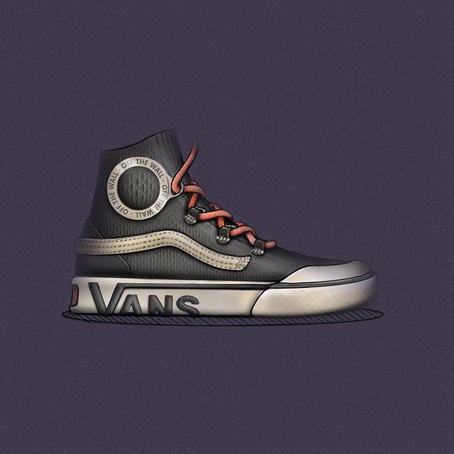Vans Vulc Hi Kint 🧵 . . . #vans #skate #skateboarding #footweardesign #ckinspiration #lacelessdesign #conceptkicks #design #industrialdesign #footwear #designsketch #design