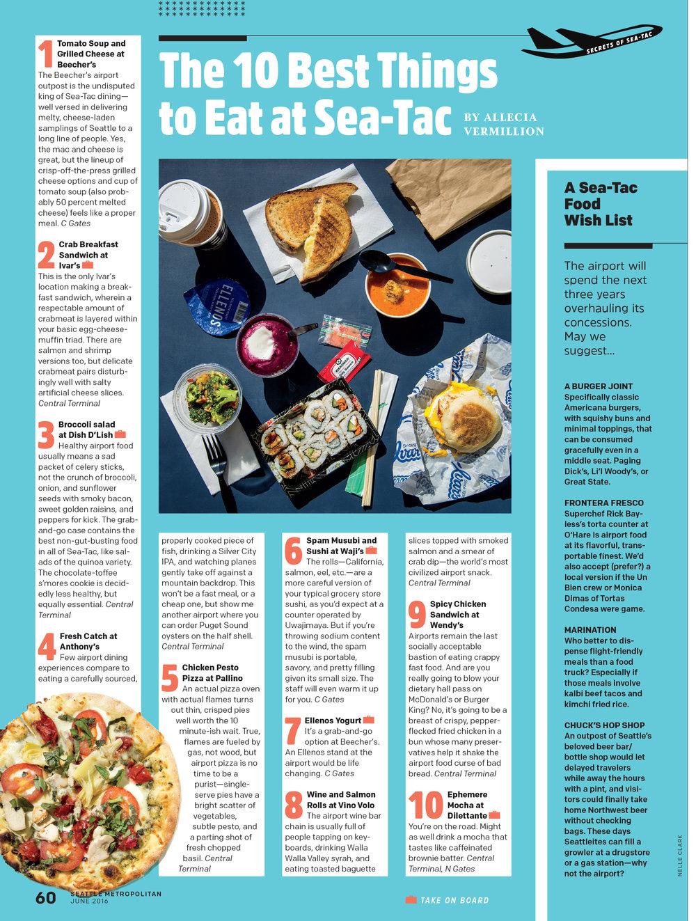 Seattle Met 10 Best Things to Eat at Sea-Tac