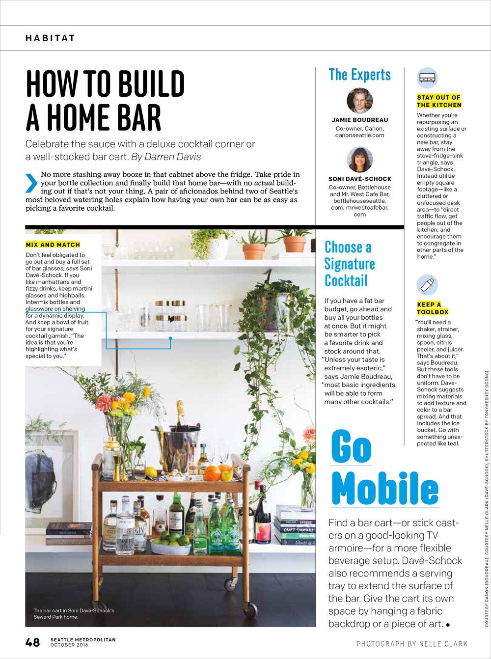 Seattle Met Habitat How to Build a Home Bar Cart