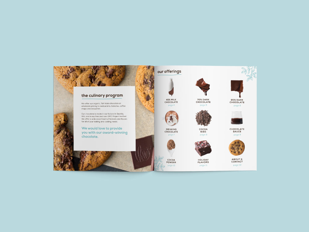 Theo Chocolate Catalogs Art Direction, Design, Photography