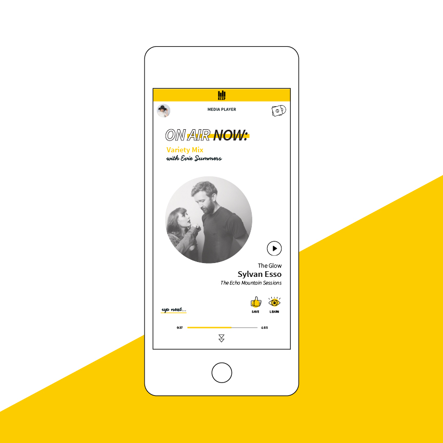 KEXP Mobile App - BRAND REFRESH, UI DESIGN
