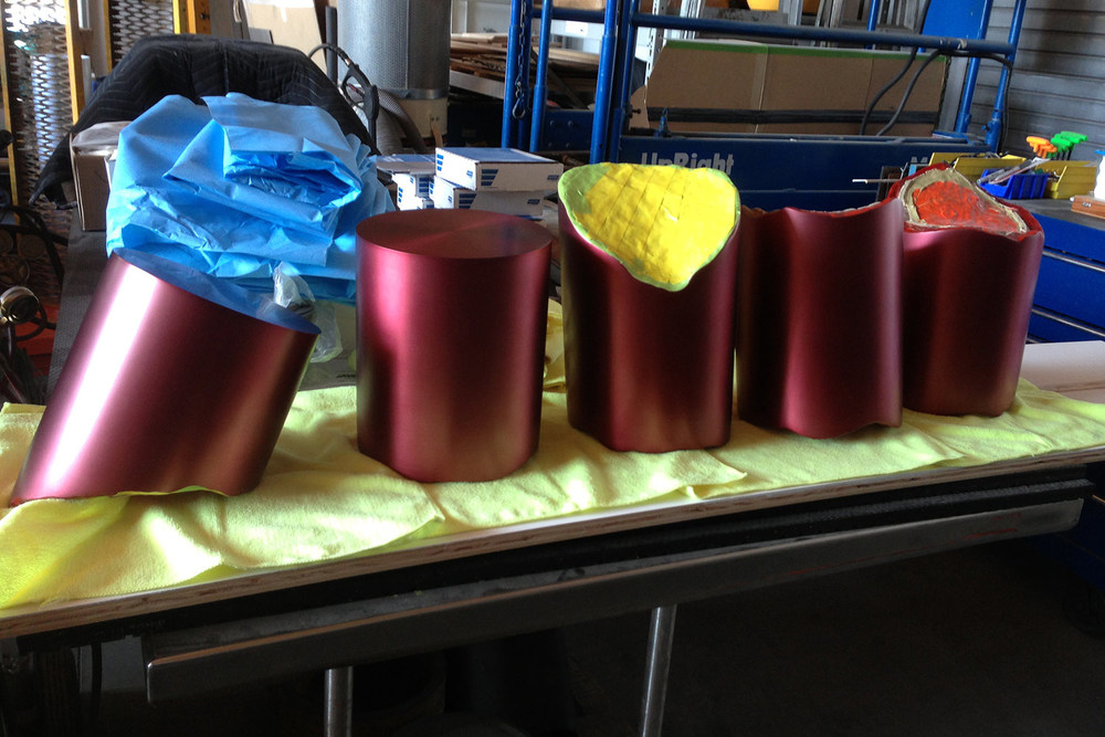 Ruptured Column After Anodizing