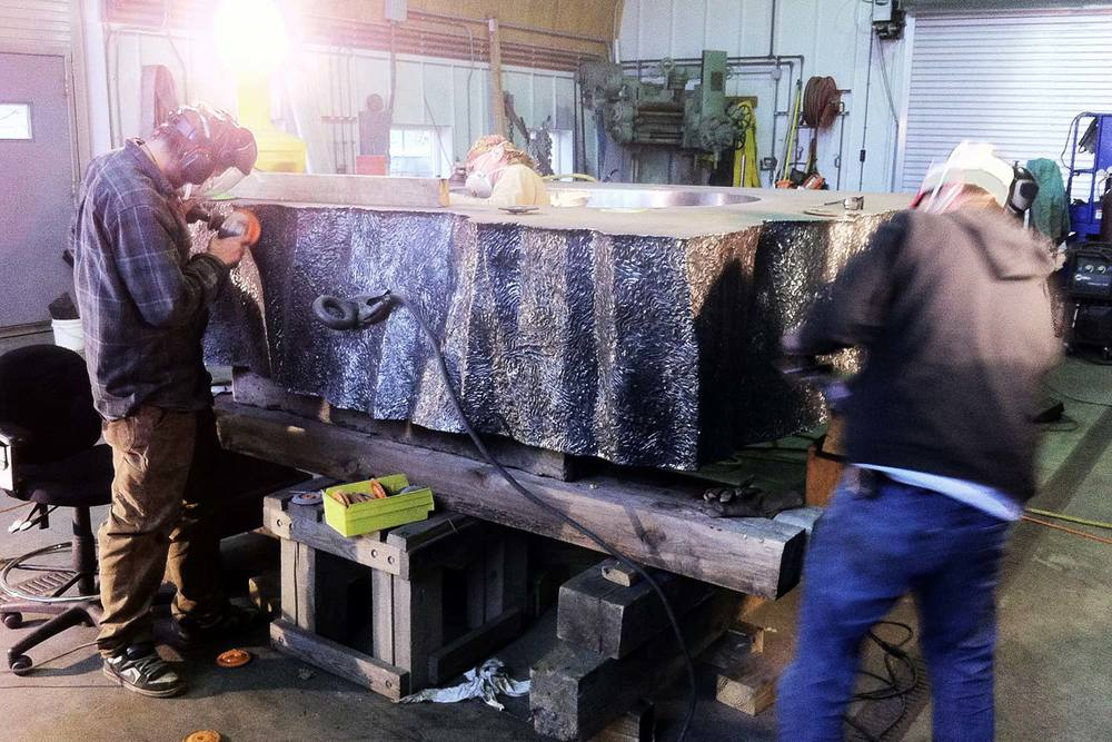 Bore Block in Fabrication