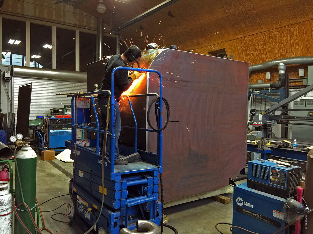 Alembic Cube in Fabrication at Jonathan Prince Studio