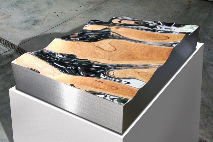 Wave Form  High Chromium Stainless Steel  8.5 x 44 x 24 inches | 22 x 112 x 61 cm 2012