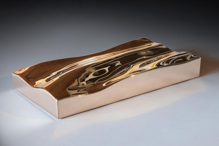 Bronze Wave I  Fabricated Silicon Bronze  2.5 x 18 x 9.5 inches | 6 x 46 x 24 cm 2013
