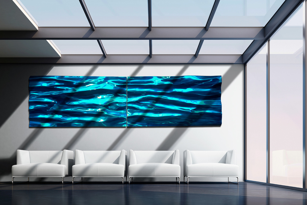 Wave Wall (Diptych)