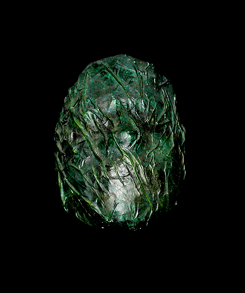 """Overgrown Silence"" mask  mixed media  9"" x 6"" x 3""  NFS"