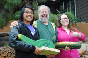 Congratulations to Sean, our winner with a 6 lb 2.5 oz zucchini!