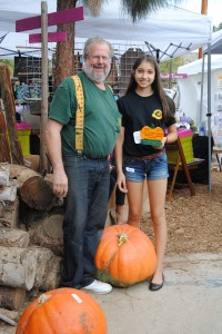 2nd-place was awarded to Iliana for her 68.5 pound pumpkin.