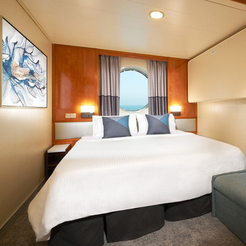Relax - Discover the beauty of style and comfort. Cozy and modern staterooms feature excellent appointments.