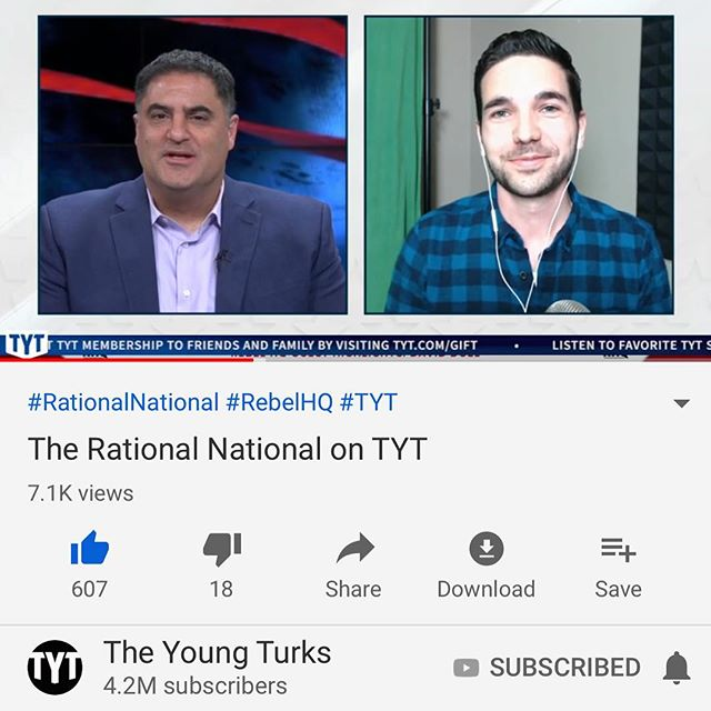 This was cool. Thanks to @theyoungturks for inviting me on, and @anakasparianofficial for likely being the reason this happened👏.