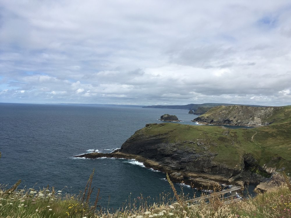 England Guided Walks & Gardens, View from Tintagel Castle, Great Circle Route