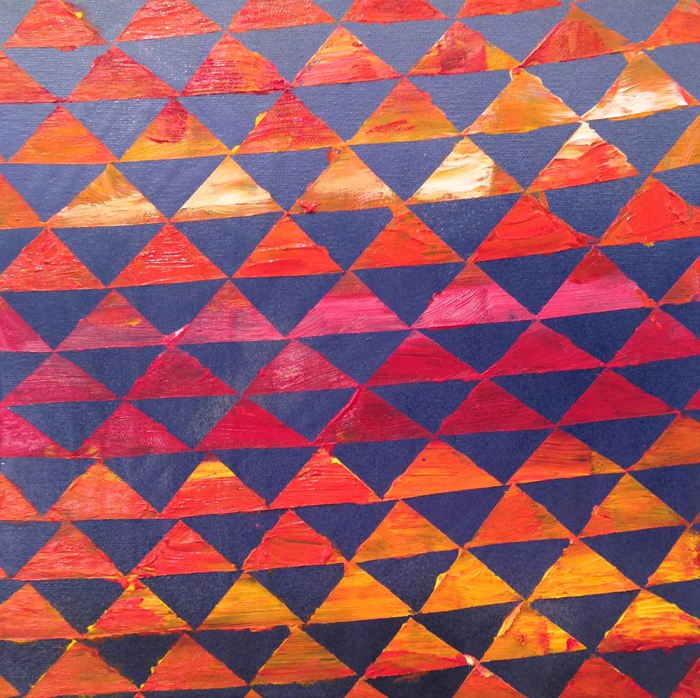 "#50 (2014) Oil and Spray Paint on Canvas 12""x12"""