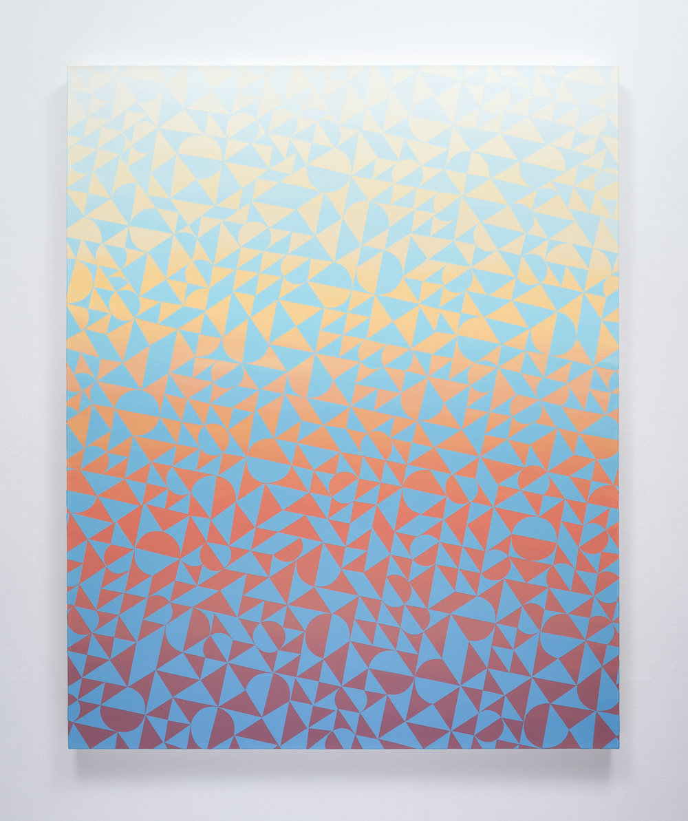 "Cole Pierce #130 (2016) Acrylic on Canvas, 60""x48"""