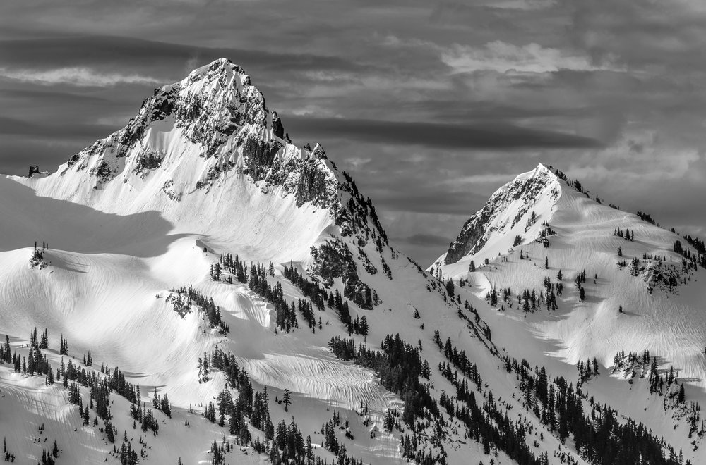 Pinnacle and Plummer Peaks of the Tatoosh Range, Mount Rainier National Park, WA