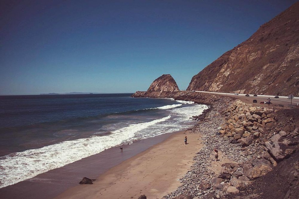 Up the coast (at Point Mugu, California)