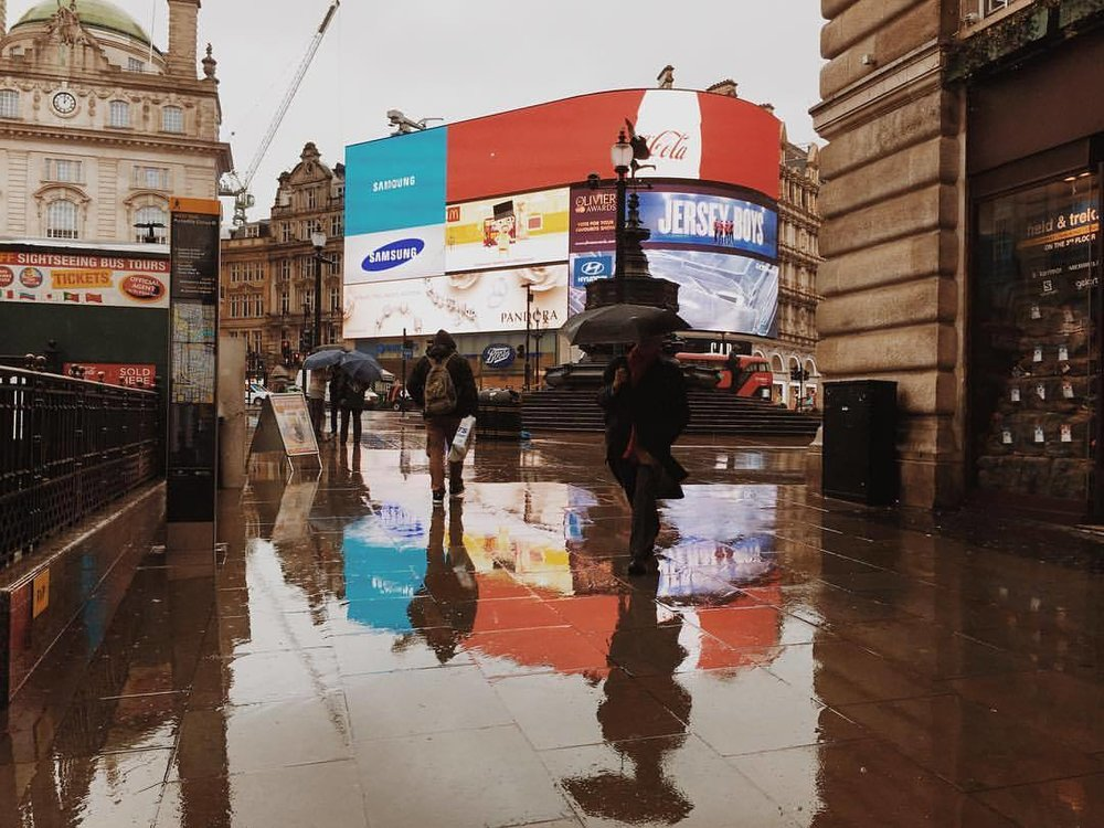 the other side (at Piccadilly Circus)