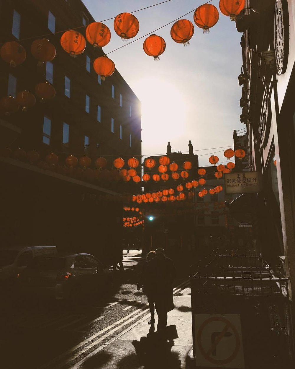 morning commute (at Chinatown, London)