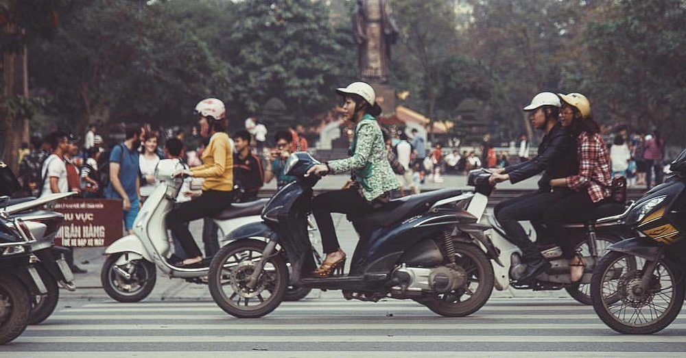 it's always rush hour in Saigon (at Ho Chi Minh City, Vietnam)