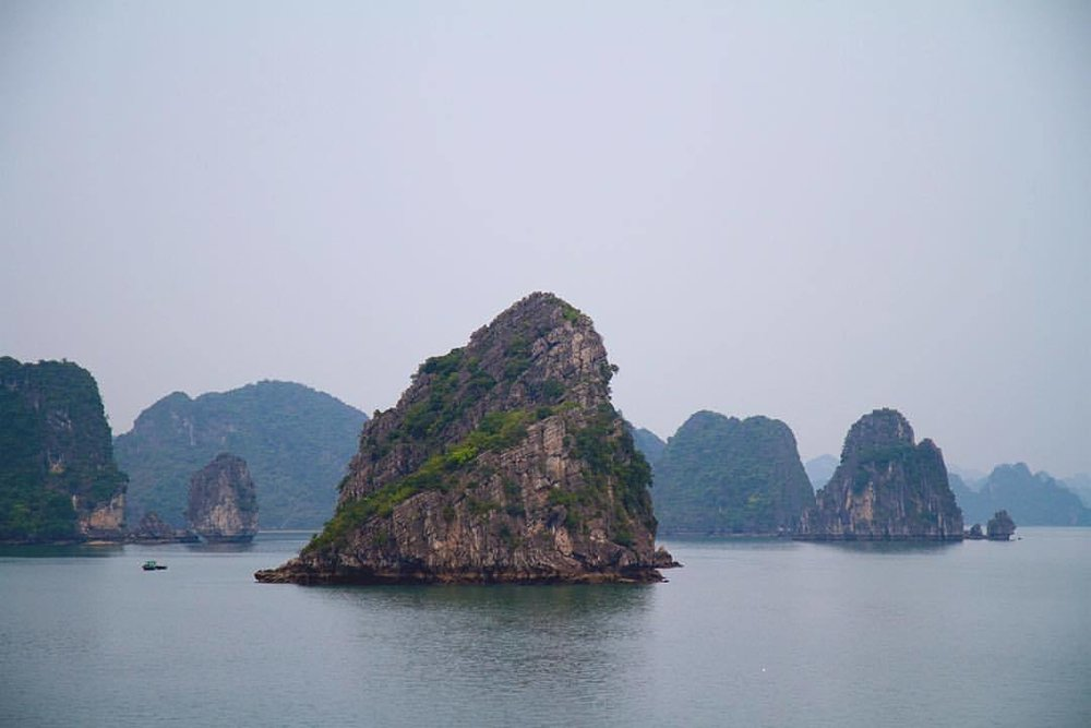 at Ha Long Bay, Quang Ninh Province, Vietnam.