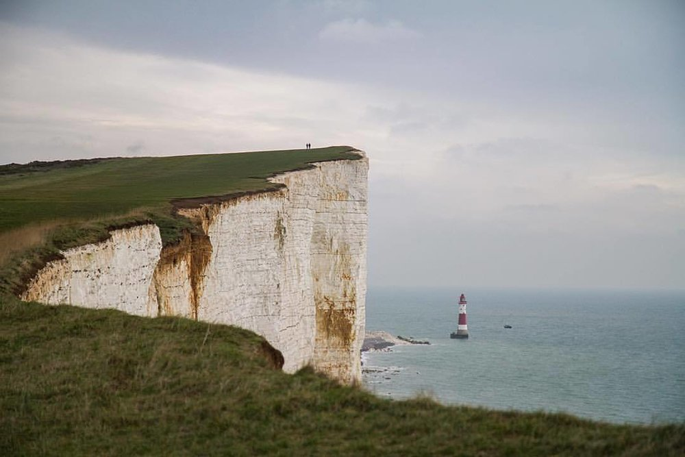 we walk  together  in life as if  we aren't  forever (at Beachy Head)