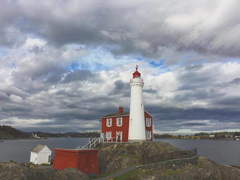 Clouds providing a great backdrop. (at Fisgard Lighthouse National Historic Site)