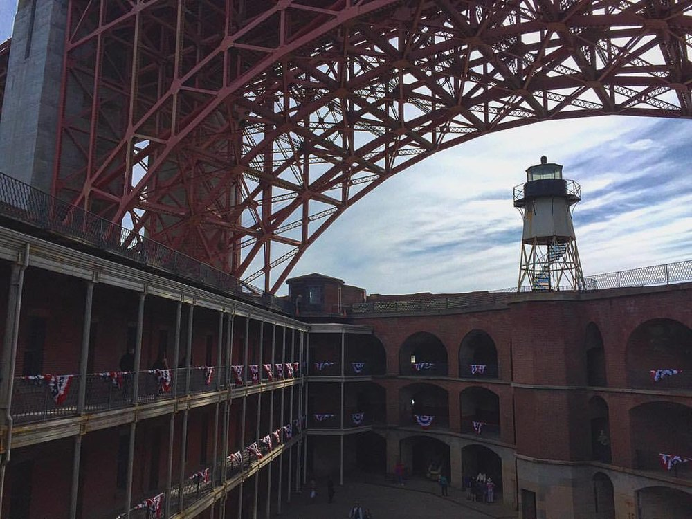 Escheressence. (at Fort Point National Historic Site)