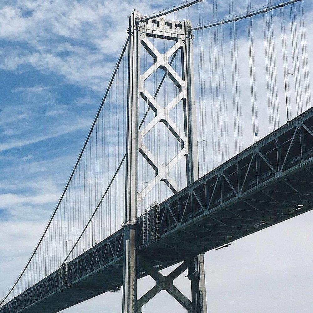 Hello Bay Bridge! (at Under The Bay Bridge)