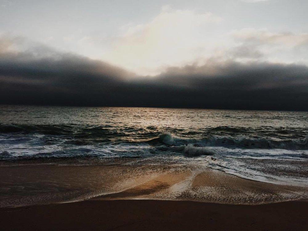 Golden hour at Half Moon Bay. (at Half Moon Bay State Beach)