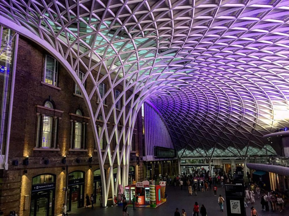 Thankfully no funnel spiders live here. (at London King's Cross Station)