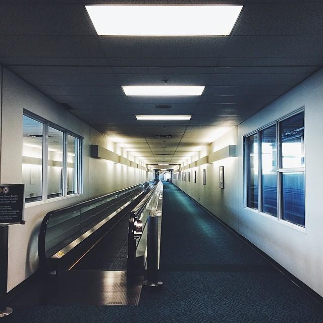 Lonely hallway.