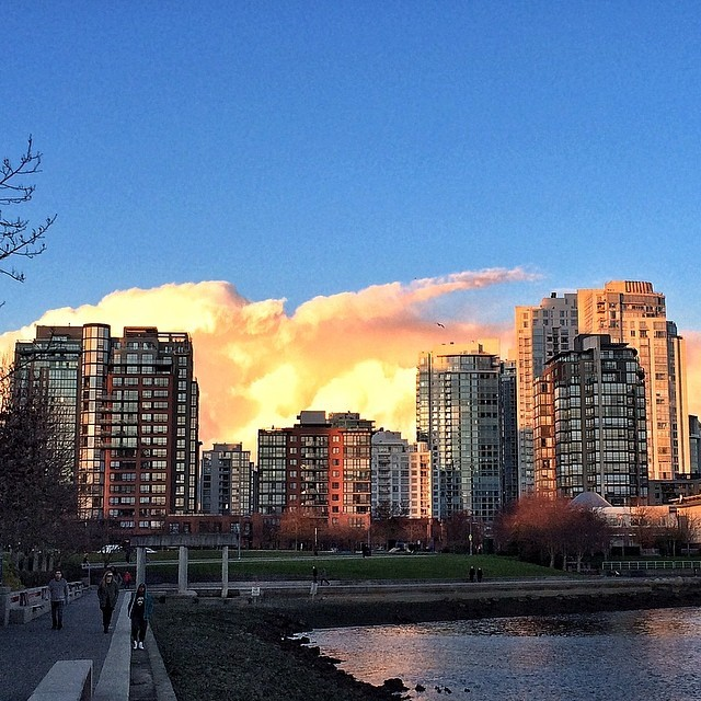 Epic clouds tonight! (at David Lam Park)