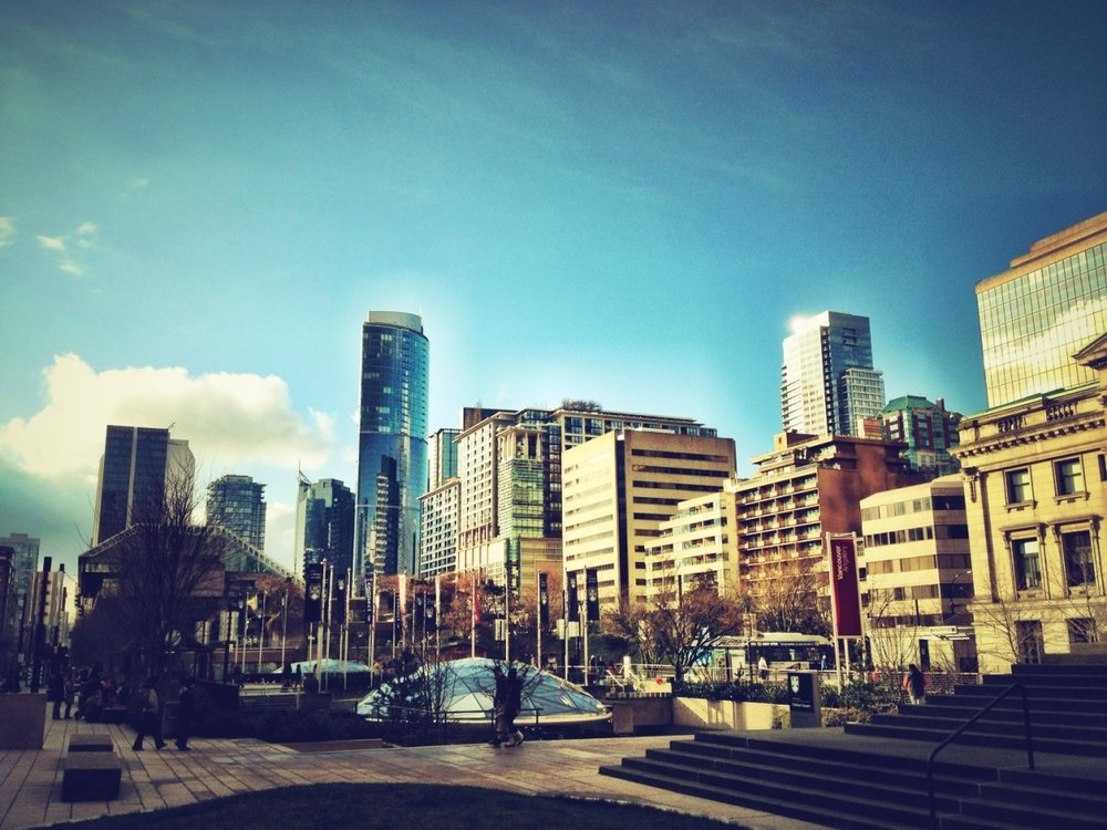 Pretty city. at Robson Square – View on  Path .