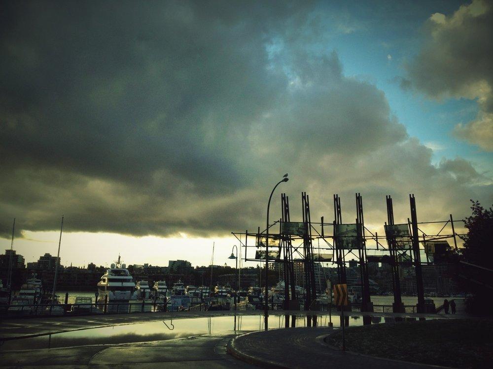 at Marinaside Seawall – View on  Path .