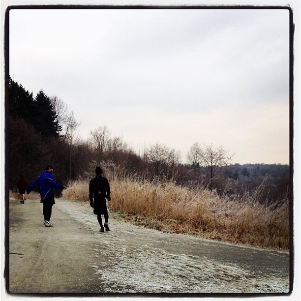 Morning run. Stupid medicine ball. (Taken with  Instagram  at Deer Lake Park)
