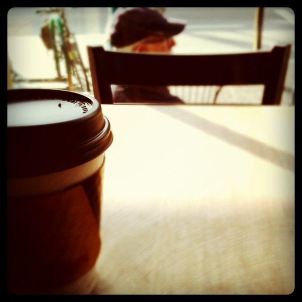 Empty seat for the invisible date. (Taken with  Instagram  at JJ Bean)