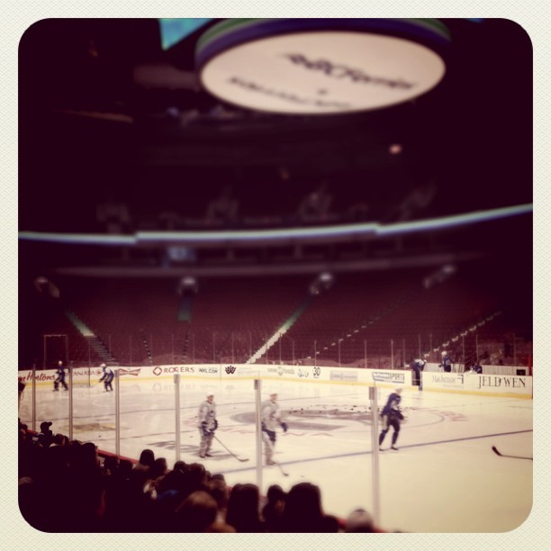 Owen Nolan's on the ice! (Taken with  Instagram  at Rogers Arena)