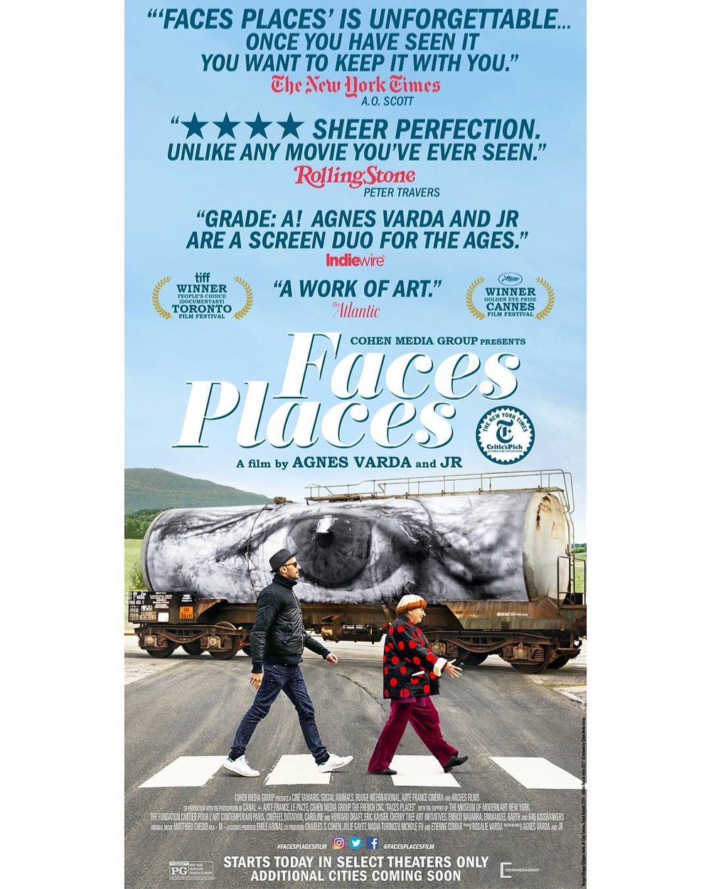 """Face Places"" (2017), dir. by JR, Agnes Varda"