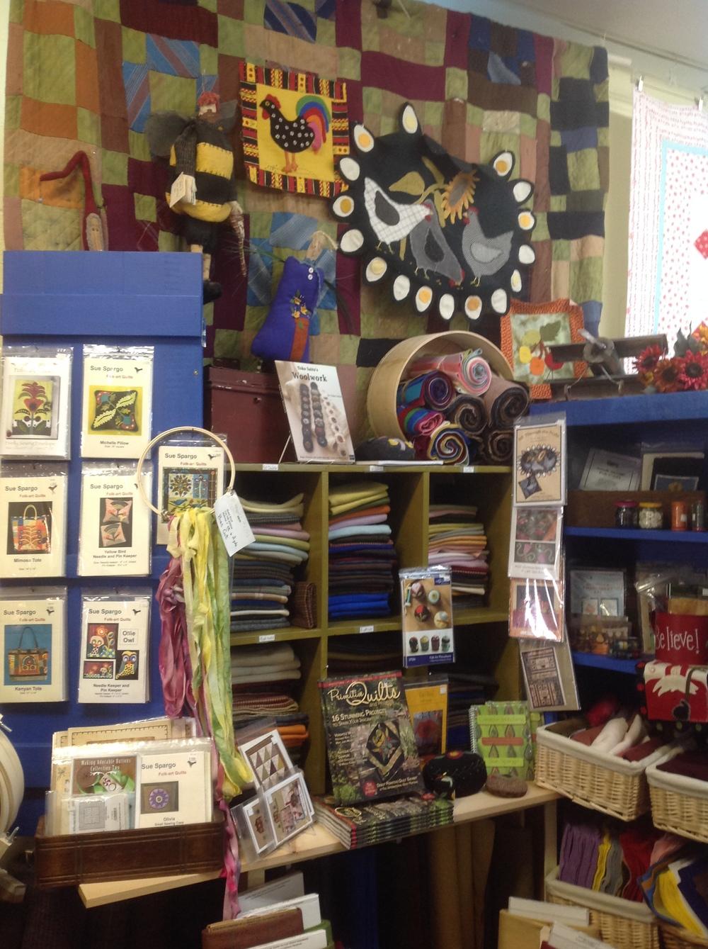 Wool Area in Shop