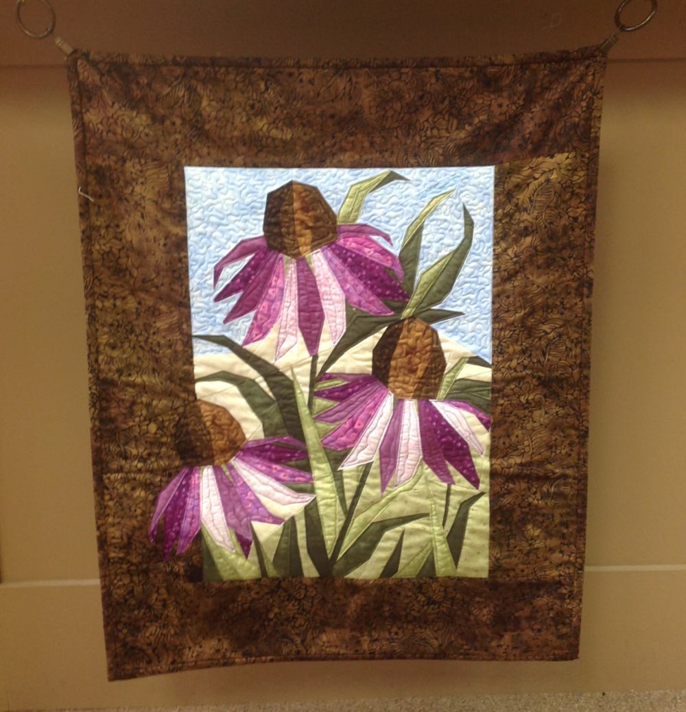 One of the striking quilts on display at the shop.