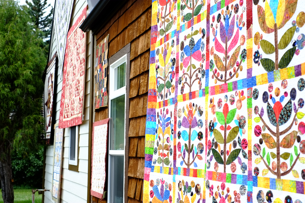 Quilts were displayed everywhere!