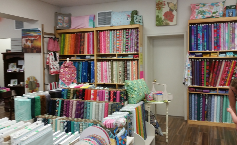 Here is the sewing/quilting department.