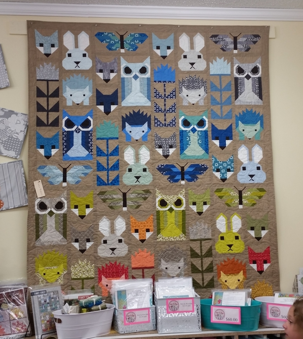 Beautiful Forest Animal pieced quilt!