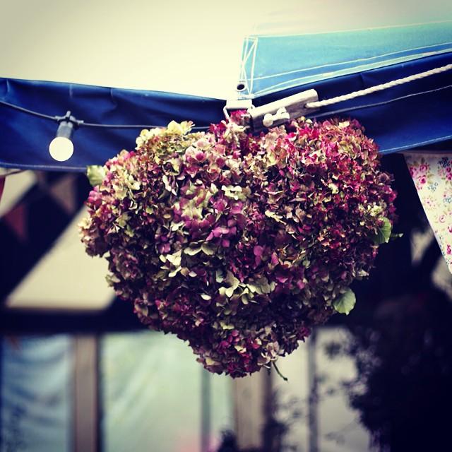 Hydrangea wired heart! #britishflowers
